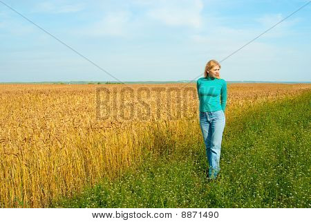 Women In The Wheat Field