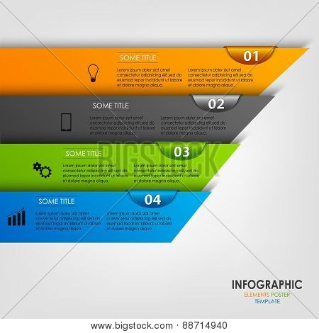Info Graphic With Colored Design Stripes Template