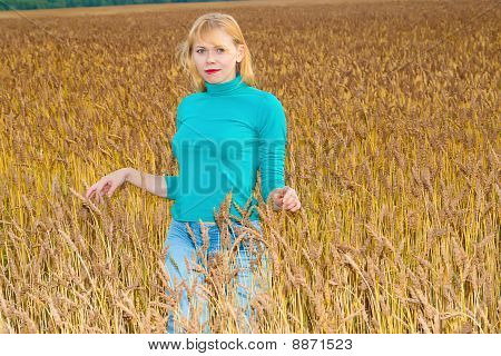 Women In Wheat Field
