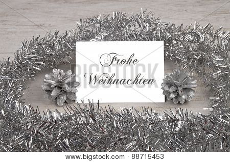 Silver Table Card