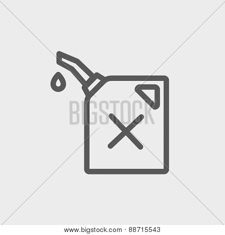 Gasoline pump noizzle icon thin line for web and mobile, modern minimalistic flat design. Vector dark grey icon on light grey background.
