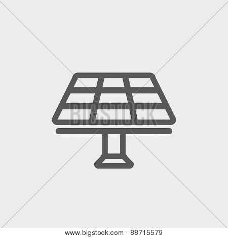 Solar Panel icon thin line for web and mobile, modern minimalistic flat design. Vector dark grey icon on light grey background.