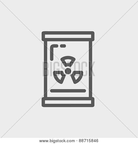 Glass with propellericon thin line for web and mobile, modern minimalistic flat design. Vector dark grey icon on light grey background.
