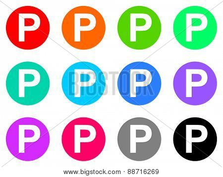 parking vector icon set