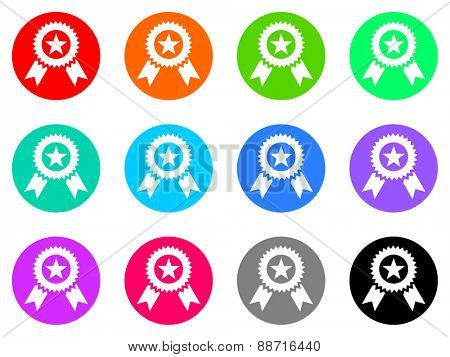 award vector web icon set