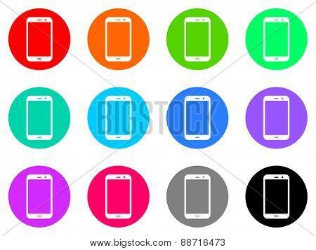 smartphone vector web icon set