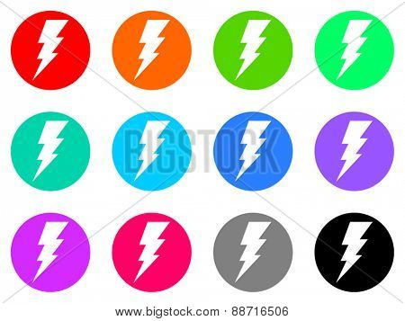 bolt vector web icon set