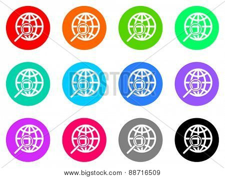 search vector web icon set