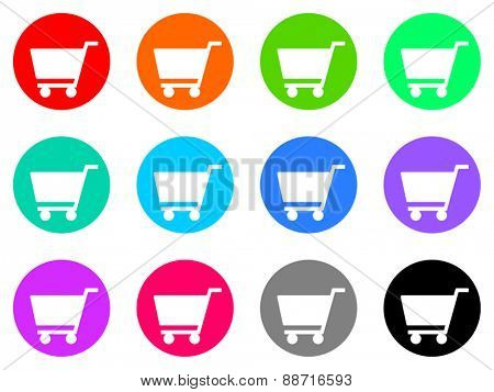 cart vector web icon set