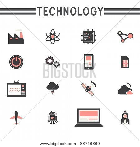 Technology Innovation Electronics Motivation Icons Concept