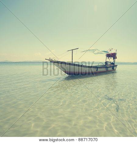 Fishing boat on the sea, Malaysia