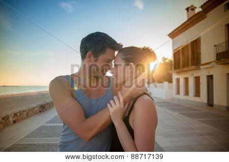 coast dreamers walking sunset