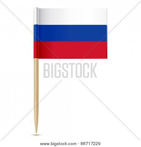 Russian flag toothpick
