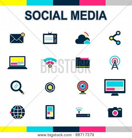 Social Media Connection Technology Global Communication Concept