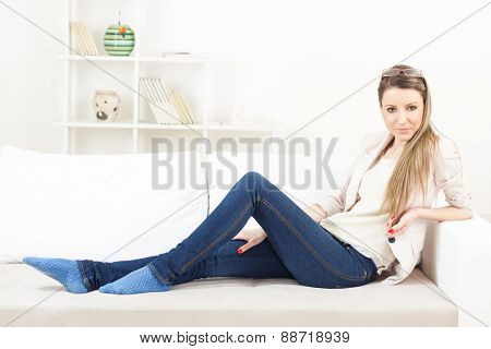 Girl relaxing