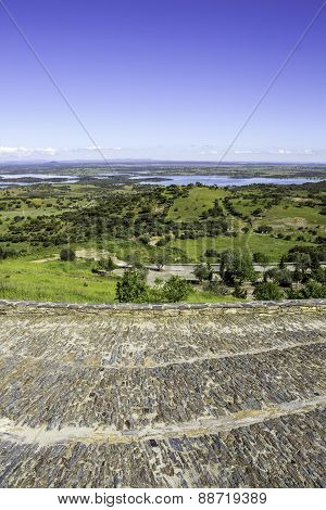 View From Town Of Monsaraz, On The Right Margin Of The Guadiana River In Alentejo Region