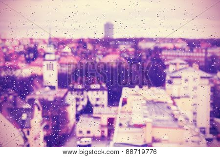 Purple Abstract Blurred Urban Background