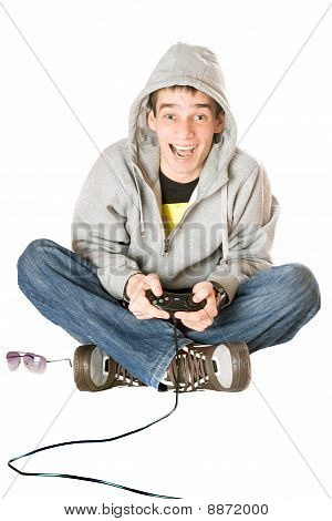 Joyful Guy With A Joystick