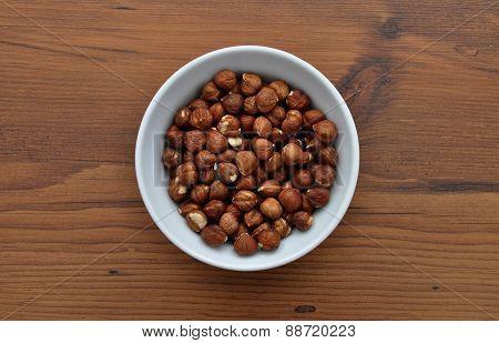 Bowl With Hazelnuts