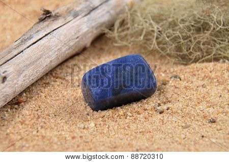 Sodalite On Beach