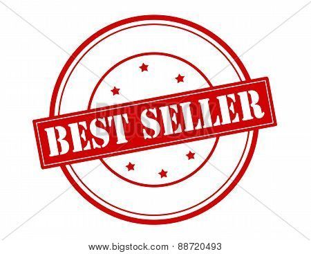 Rubber stamp with text best seller inside vector illustration