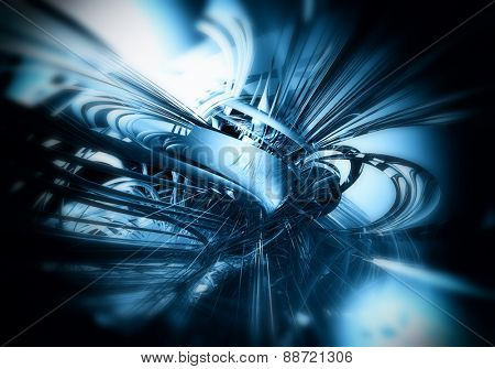 3D futuristic background