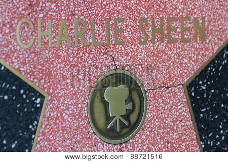 Charlie Sheen's Hollywood Star