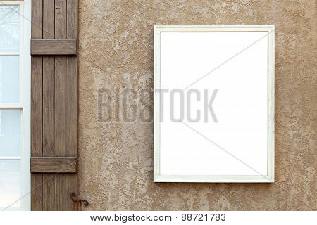 Blank Wall Sign with Copy Space