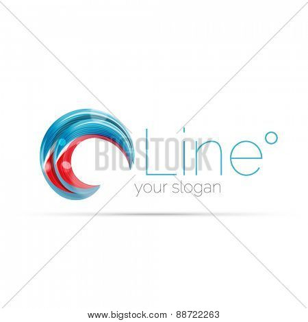 Swirl blue red company logo design. Universal for all ideas and concepts. Business creative icon