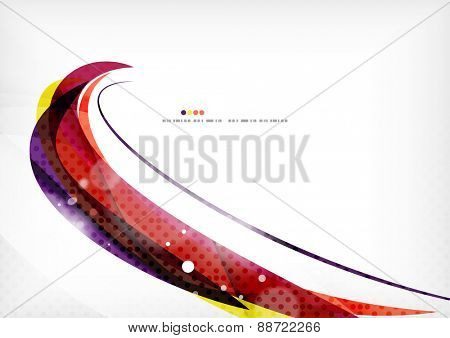 Yellow and purple color lines, abstract background. Modern template