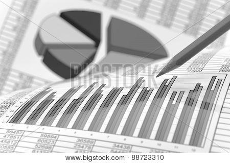 Financial business chart