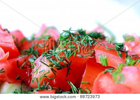 Tomatoes Chopped For Salad