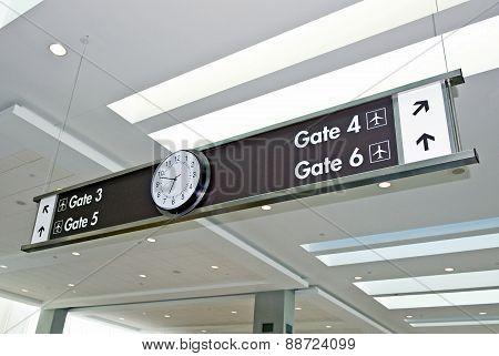 Airport Gate Information With Clock