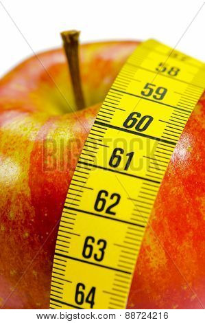 diet with healthy apple