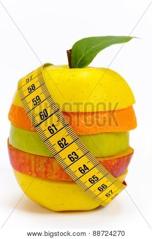 mixed fruits against over weight