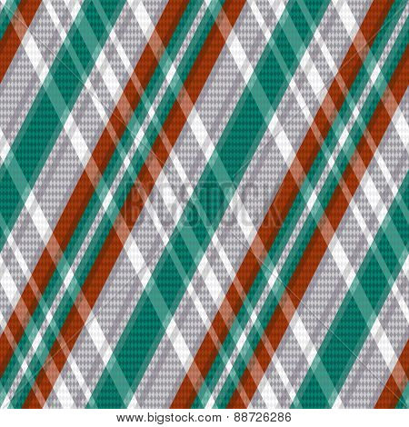 Rhombic Tartan Seamless Texture In Red Different Hues