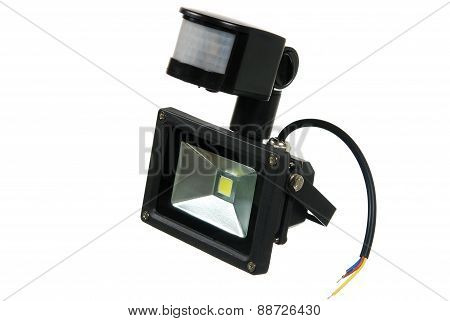 Led Spotlight With A Motion Detector