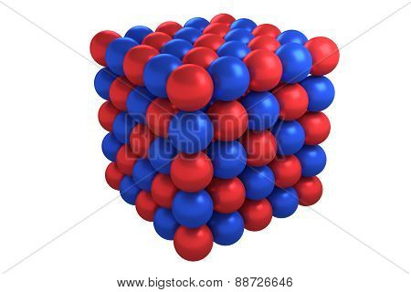 Molecule cubic crystal structure