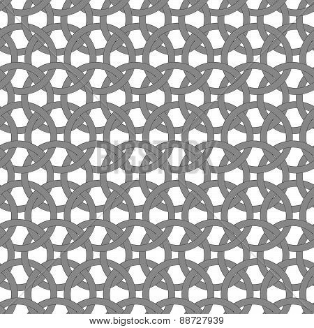 Dark Gray Circle Interlocking Ornament