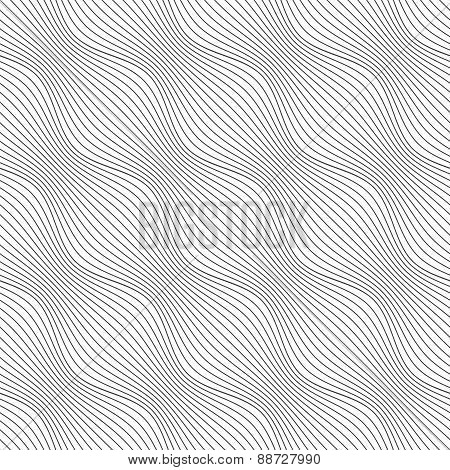 Gray Ornament Diagonal Bulging Waves