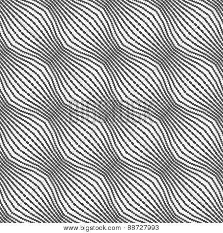 Gray Ornament Diagonal Dotted Bulging Waves