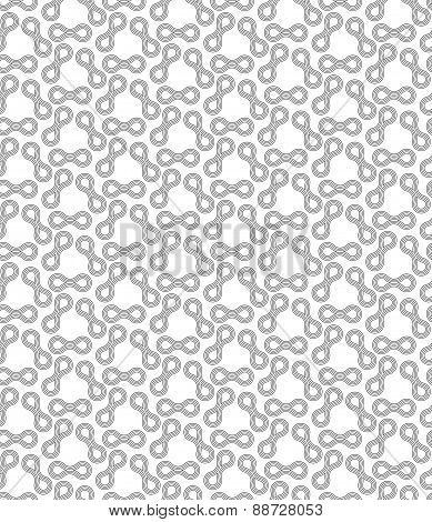 Gray Ornament With Offset Shapes