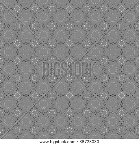 Gray Ornament With Slim Gray And Black Eastern Grid