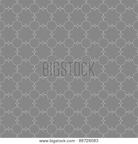 Gray Ornament With Slim Gray Eastern Grid
