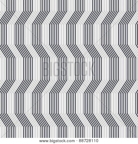 Gray Ornament With Warping Stripes Thick