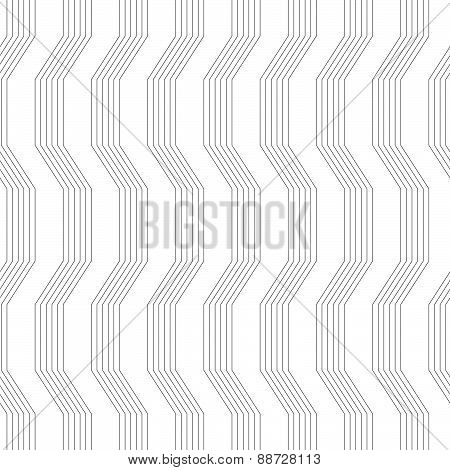 Gray Ornament With Warping Stripes