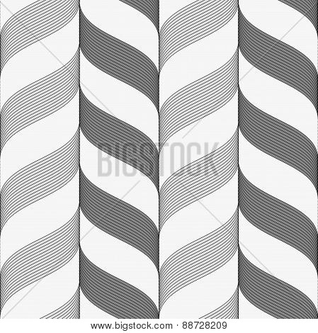 Ribbons Dark And Light Forming Vertical Chevron Pattern