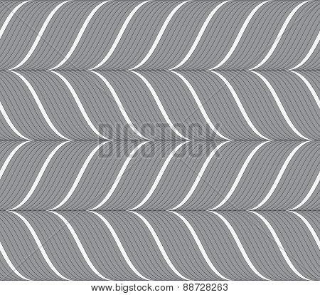 Ribbons Gray Horizontal Chevron Pattern