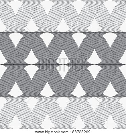 Ribbons Gray Shades Crosses Grid Pattern