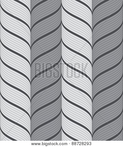 Ribbons Gray Vertical Chevron Pattern